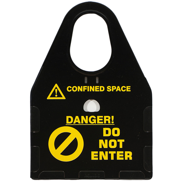confined space card holder black