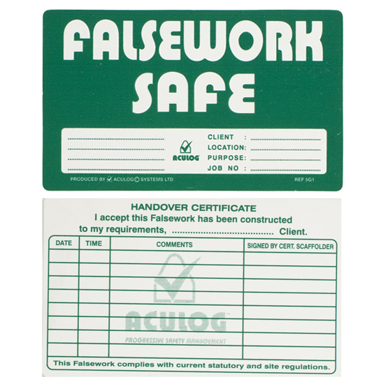 falsework safe card