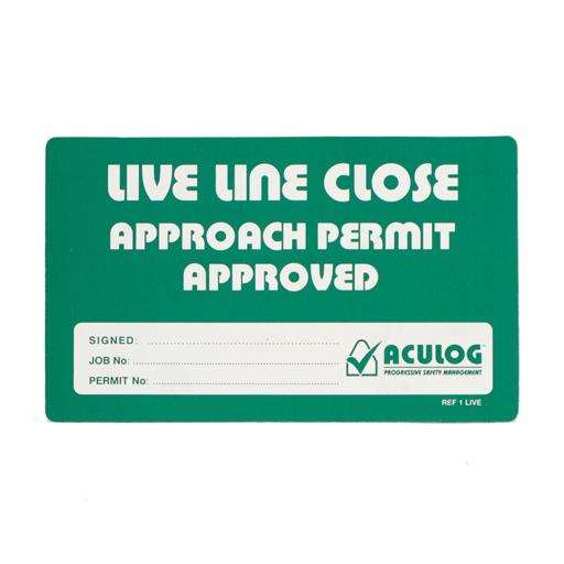 live line close card