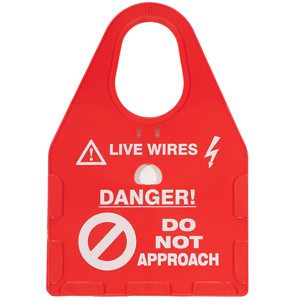 live wires safety card holder red