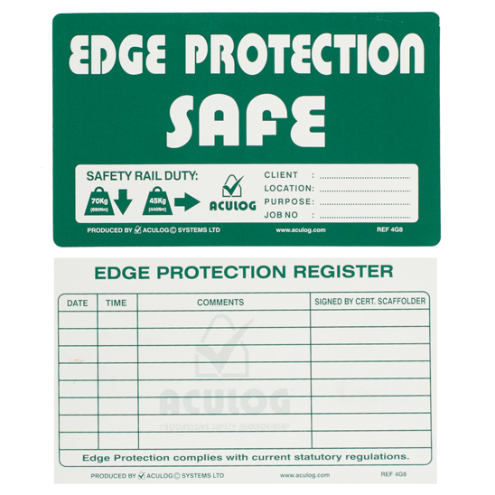 scaffold edge protection cards