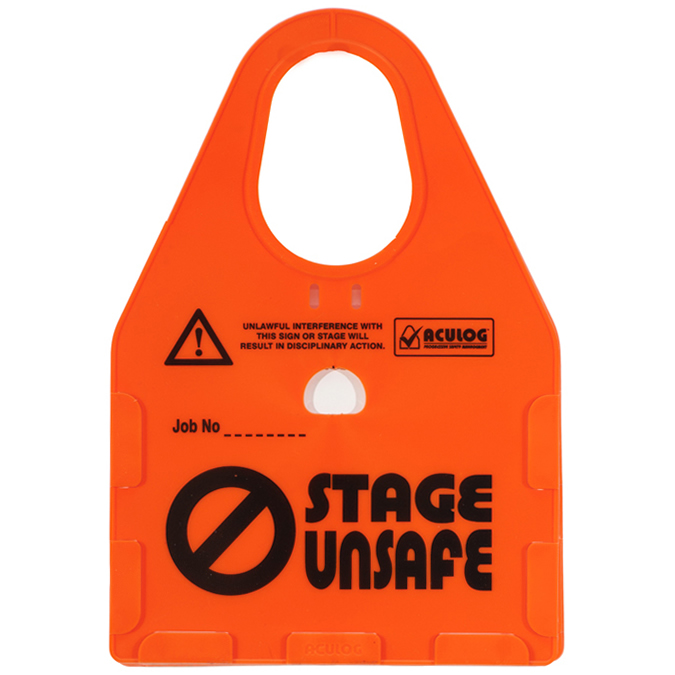 stage unsafe card holder orange