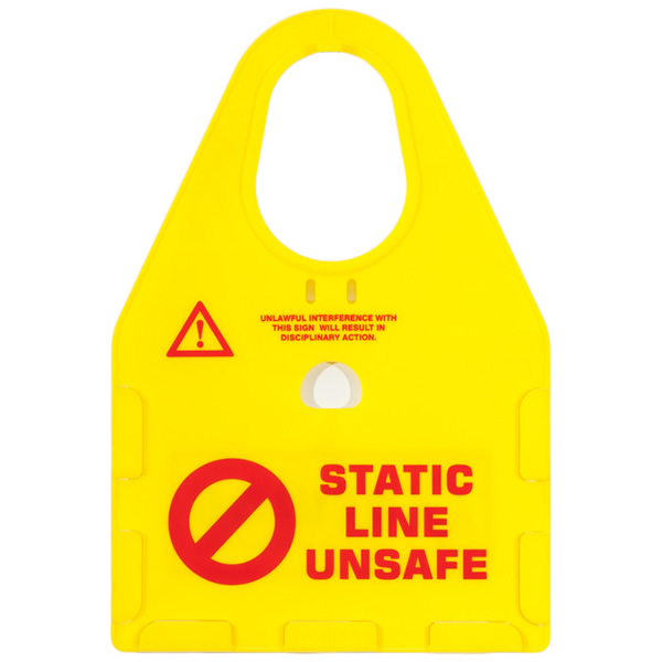 staic line safety holder