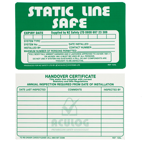 static line safe card